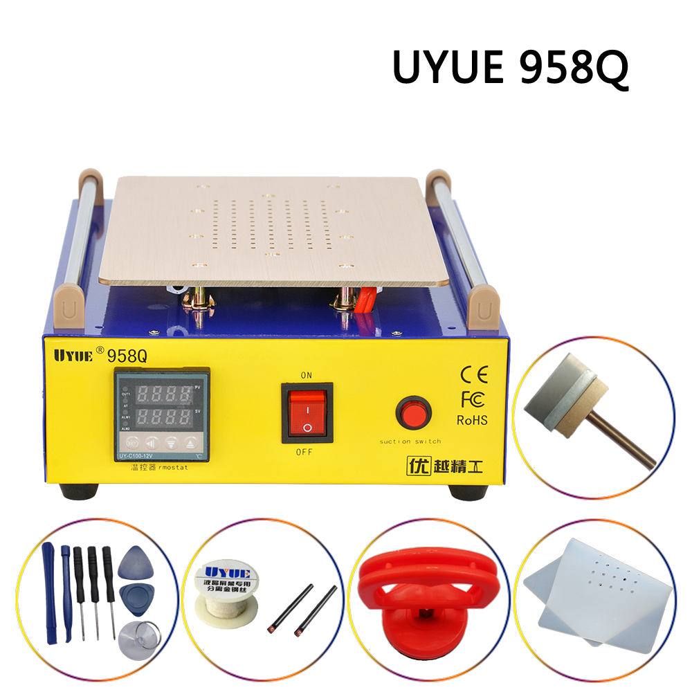 UYUE 958Q 2 in 1 Multifunction LCD Repair Machine Set Touch Screen Separator Built-in Vacuum Pump For iPhone Samsung iPad