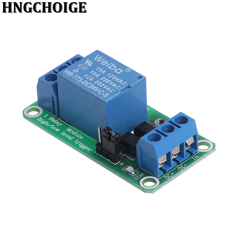 HNGCHOIGE 1 channel relay <font><b>module</b></font> 5V 12V <font><b>24V</b></font> high and low level trigger relay control with optocoupler image