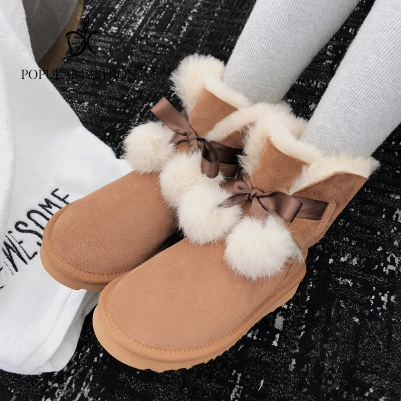 Women Boots non-slip Waterproof Winter Ankle Snow Boots Warm Wool Fur Female Winter Shoes Botas Mujer Booties Woman plus Size