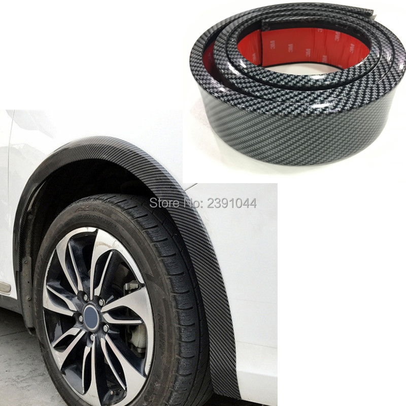 Car Fender Flare Extension Wheel Eyebrow Protector Car Tires Eyebr Soft Lip Wheel-arch Trim Wheel Eyebrow Arch Decorative Strip