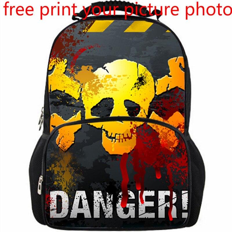 3d sac photo photo personnalisé privé personnalisé sac à dos hommes mode tendance Europe et états-unis collège pirate équipe sac à dos