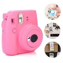 NEW Mini Camara De Fotos 9 Instant Film Photo Camera With Selfie Mirror(Ice Blue) Instant Camera for Fuji Instax Camera(China)
