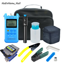 FTTH Fiber Optic Tool Kit with High precision Optical Power Meter -70~+3dBm 30km Visual Fault Lcator Fiber Cleaver Wire stripper(China)