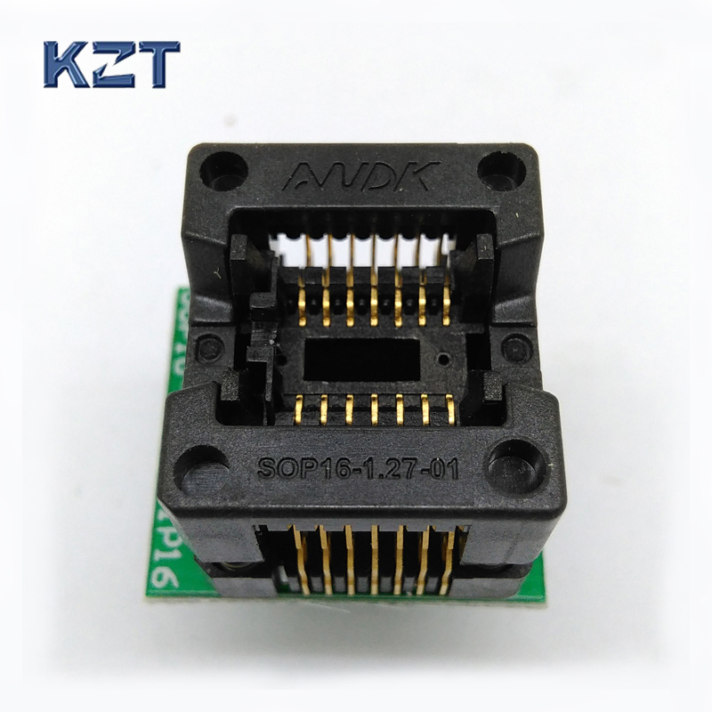 SOP14 SOIC 14 SO14 to DIP14 Programming Socket Pitch 1.27m IC Body Width 3.9mm 150mil Flash Test Socket Adapter ad9764arrl 28 soic
