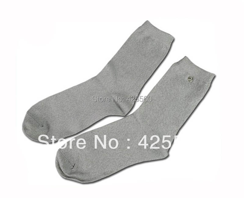 3 Pairs Conductive Slivery Fiber Electrode Massage Socks Use For TENS/EMS Unit For Physical Therapy