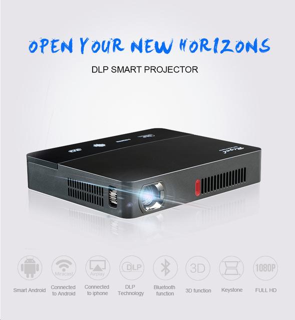 2016 Más Nuevo Original 601 Mini Proyector DLP HDMI del Teatro Casero beamer proyector multimedia Full HD 1080 P de vídeo