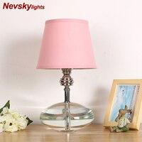 Хрустальная лампа настольная светодиодная декор на стол Настольная лампа с розовым абажуром Прикроватная лампа настльная винтаж светильн