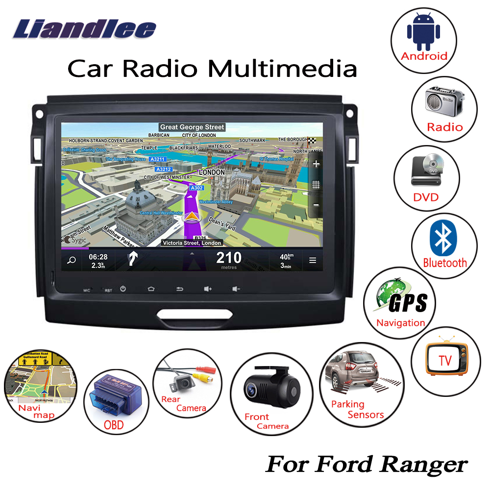 Liandlee For Ford Ranger 2015~2017 Android Car Radio CD DVD Player GPS Navi Navigation Maps Camera OBD TV HD Screen Multimedia liandlee for ford edge 2011 2014 wince car radio cd dvd player gps navi navigation maps camera obd tv screen multimedia