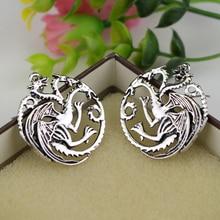 Game of Thrones Themed Earrings with Targaryen Symbol