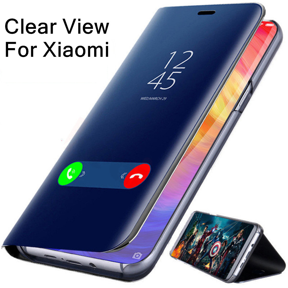 Mirror Flip Case For Xiaomi Redmi Note 7 5 6 Pro 4X Mi 9 8 A1 A2 Lite Pocophone F1 Fundas Cases On Redmi Note 7 5 6A 6 Pro Cover