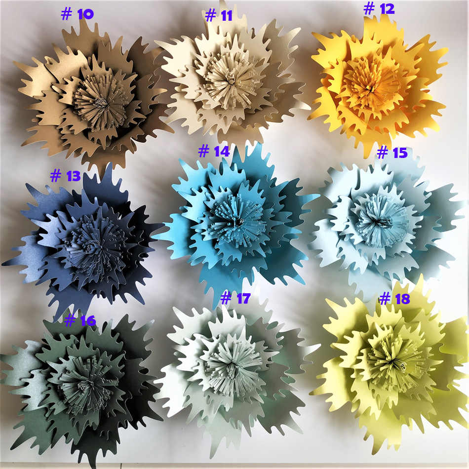20cm 50cm Cardstock Rose Diy Paper Flowers For Wedding Event Backdrops Decorations Baby Nursery Wall Decor Video Tutorials