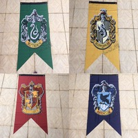 New Harry Potter Gryffindor Hufflepuff Slytherin Ravenclaw Flag 75cmx125cm Polyester Digital Print Banner With 2 Metal