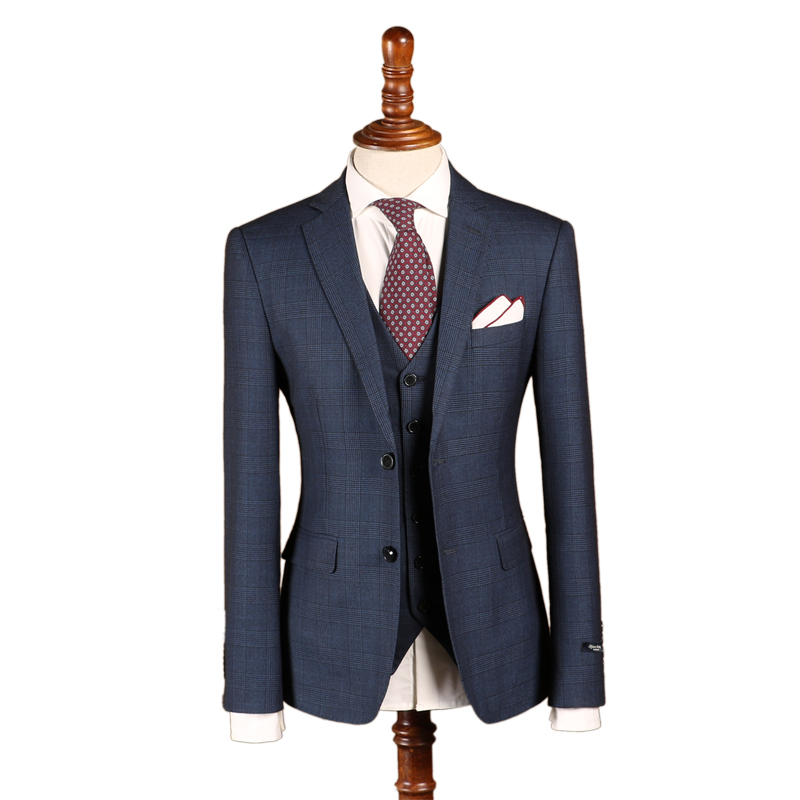 Индивидуальный заказ Для мужчин; Нарядные Костюмы для свадьбы двубортный классический костюм Смокинги для женихов Бизнес Slim Fit костюм зака...