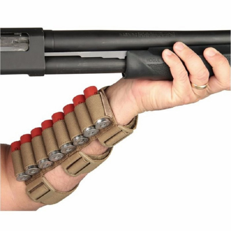 Tactical Military Hunting 8 Rounds Ammo Shot Holder Bullet Arm Pouches Outdoor Carrier Shooter Sleeve Mag Accessories