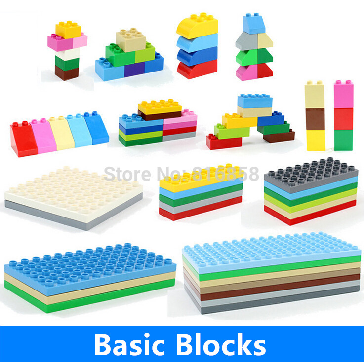 Big Basic Building Blocks Parts 2*4 2*2 4*8 6*8 8*8 6*12 Plate 100% Compatible Bricks DIY Educational Toys 32 32 dots plastic bricks the island straight crossroad curve green meadow road plate building blocks parts bricks toys diy