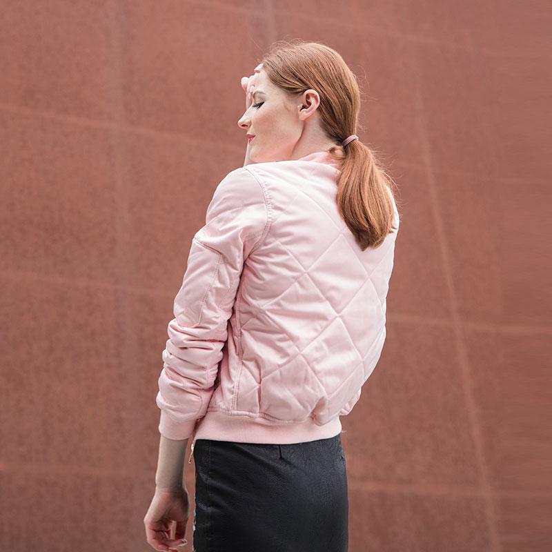 HTB1UjllfKEJL1JjSZFGq6y6OXXae Bella Philosophy autumn winter quilting bomber jacket women coat zipper long sleeve winter jacket cotton-padded pink outwears