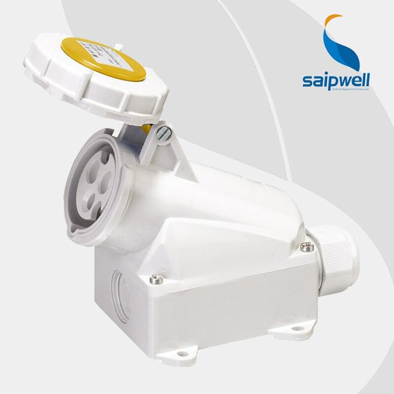 16A 110V 3P (2P+E) female waterproof industrial socket wall mounted Water/Splash Proof IP44 EN / IEC 60309-2 type SP119316A 110V 3P (2P+E) female waterproof industrial socket wall mounted Water/Splash Proof IP44 EN / IEC 60309-2 type SP1193