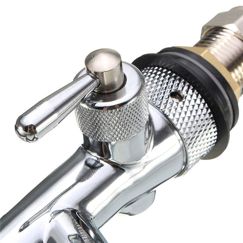 G5/8 Stainless Steel Chrome Beer Tap Adjustable Flow Control Switch Beer Tap Beer Faucet Bar Beer Machine Head Accessories Tool