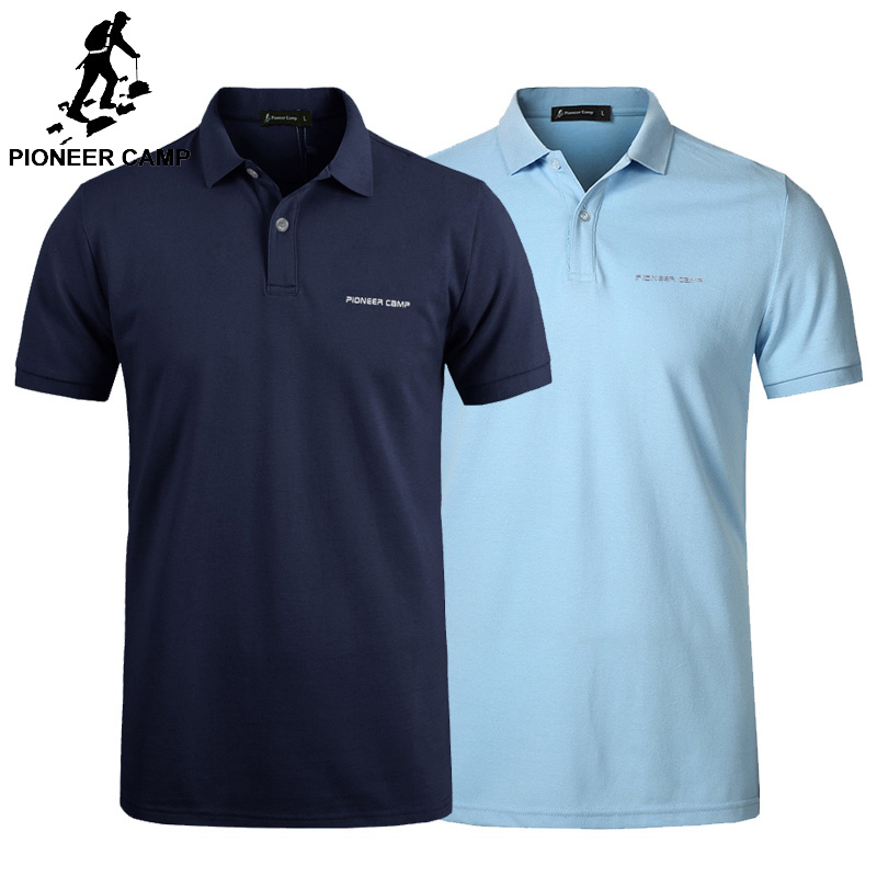 Pionner Camp 2-pack hot polo shirt men classic Business & Casual solid male Polo shirt Short Sleeve breathable polo shirt