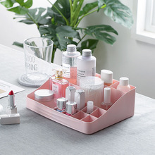 Organizator na przybory do makijażu kosmetyki plastikowy pojemnik do przevhowywania pudełko kreatywne produkty do pielęgnacji skóry wielofunkcyjna biżuteria pulpit opatrunek Organizador