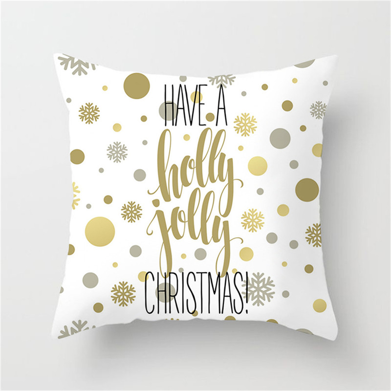 Fuwatacchi British Style Cushion Cover Gold Letter Printed Pillow Cover Telephone Booth White Decorative Pillows For Sofa Car in Cushion Cover from Home Garden