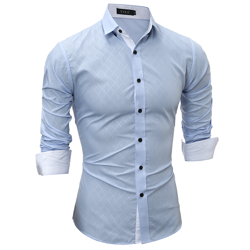 Plaid Shirts Men 17 Hot Sale Dress Long Sleeves Shirts Fashion Slim Fit Camisa Masculina Size XXL Casual Men Shirts YT666 8