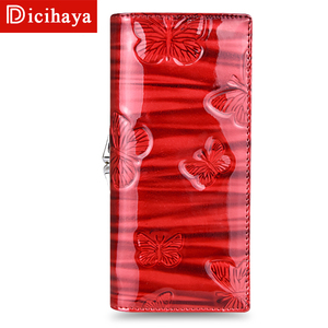 Image 4 - DICIHAYA Womens Wallets Women Leather Wallet Butterfly Design Ladies Clutch Patent Leather Purses Long Card Holder NEW 2019