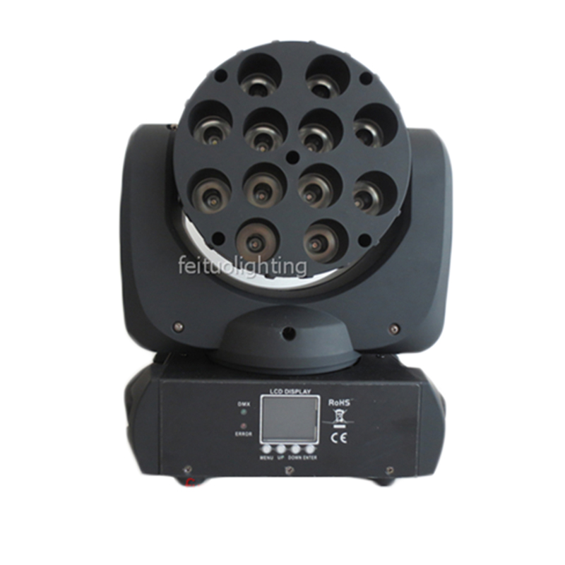 Brightness Lyre Moving Head Beam Led 12x10w Rgbw 4in1 Stage Beam Light 15CH Dmx Lumiere Disco Party Dj Moving Head Wash Light