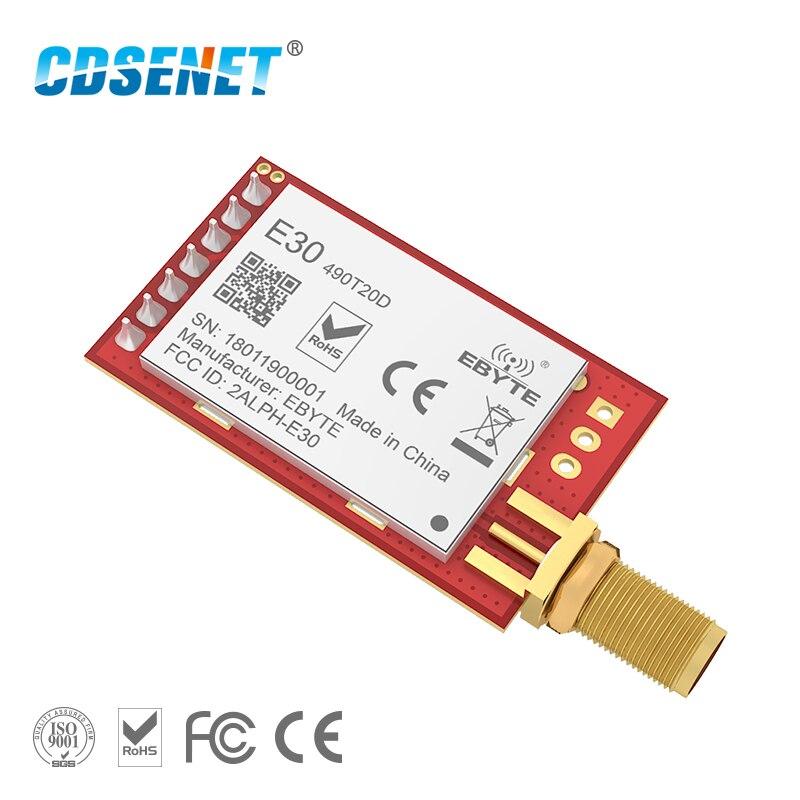 SI4438 490 МГц беспроводной Радиочастотный Модуль UART с большим диапазоном CDSENET E30-490T20D FEC 490 МГц 100 мВт радиочастотный приемопередатчик модуль для ...
