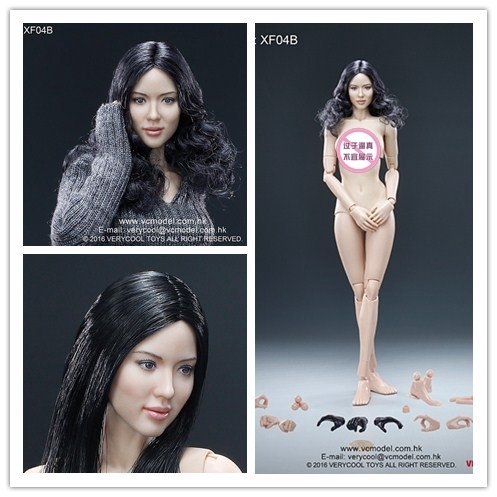 VERYCOOL 1/6 Asian female head carving + VC3.0 semi-coated plastic female body FX04 spot