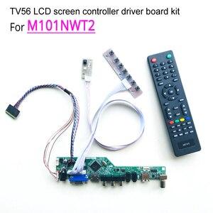 """Image 1 - T.V56 سائق تحكم اللوحات الرئيسية لتقوم بها بنفسك عدة ل M101NWT2 دفتر الكمبيوتر لوحة ال سي دي VGA HDMI RF USB 40 دبوس 10.1 """"WLED LVDS 1024*600"""