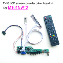 "T.V56 controller driver motherboards DIY kit For M101NWT2 notebook PC lcd panel VGA HDMI RF USB 40 pin 10.1"" WLED LVDS 1024*600"