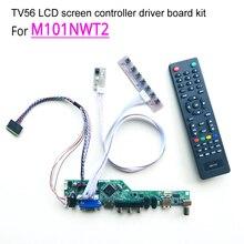 """T。v56コントローラドライバマザーボードのdiyキットM101NWT2ノートpc液晶パネルvga hdmi rf usb 40ピン10.1 """"wled lvds 1024*600"""
