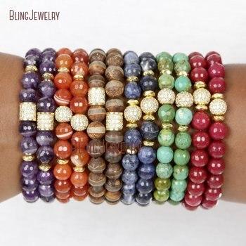 Trendy Accessories Boho  Bracelets Natural Gems Beaded Bracelets For Women Gifts For Her Natural Stone Bracelets BM24156