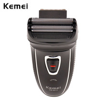 100-240 в низкий уровень шума KEMEI бритва перезаряжаемая машинка для бритья бороды Триммер для мужчин электробритва бритвы уход за лицом мужской триммер