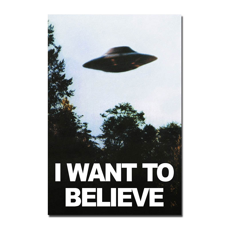 Jag vill tro - X Files Art Silk or Canvas Poster 13x20 24x36 inches UFO TV Series Pictures 001
