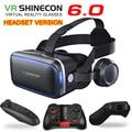 Shinecon 6.1 VR Virtual Reality 3D Glasses Google Cardboard VR Headset Box Goggles Headset Helmet for Smart Phone