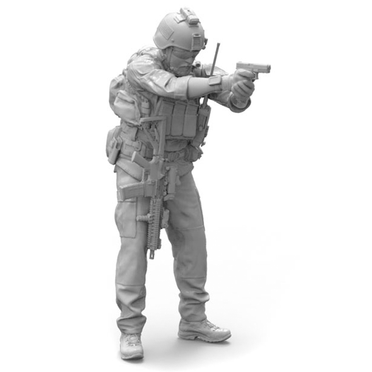 <font><b>1</b></font>/<font><b>35</b></font> <font><b>Resin</b></font> <font><b>Soldier</b></font> Model Modern US Army Special Forces image