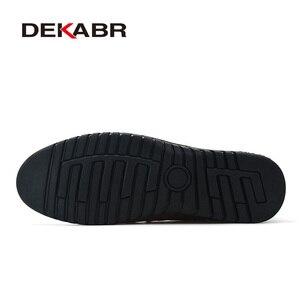 Image 4 - DEKABRผู้ชายรองเท้าหนังแท้รองเท้าสบายๆสบายๆรองเท้าส้นเตี้ยรองเท้าผู้ชายลื่นขี้เกียจรองเท้าZapatos Hombre