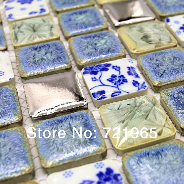 blue mosaic bathroom tiles blue ceramic porcelain mosaic kitchen wall tiles 17468