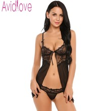Avidlove Sexy Women Lingerie Fancy Underwear With G-string Fitness Babydoll Nightwear Hot Lace Sleepwear
