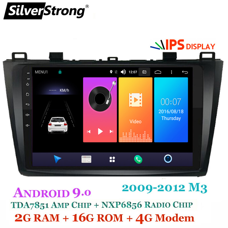 SilverStrong Android9 0 IPS 9inch 4G Car DVD for Mazda 3 Axela SIM Modem Radio Car