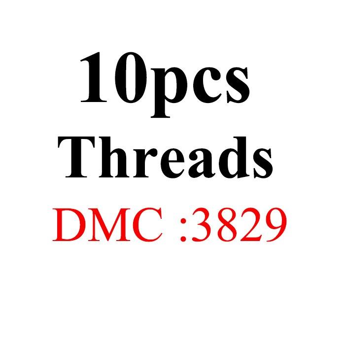 Snowlover, рукоделие, 10 шт./лот, 1,2 м, разные цвета, DMC3824-3848, вышивка крестиком, хлопковое шитье, моток пряжи, нить для вышивки - Цвет: 1.2mthread-DMC3829