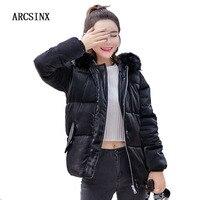 ARCSINX Wone S Jacket Winter Plus Size 5XL 4XL XXXL 2017 Women Coat Short Big Size
