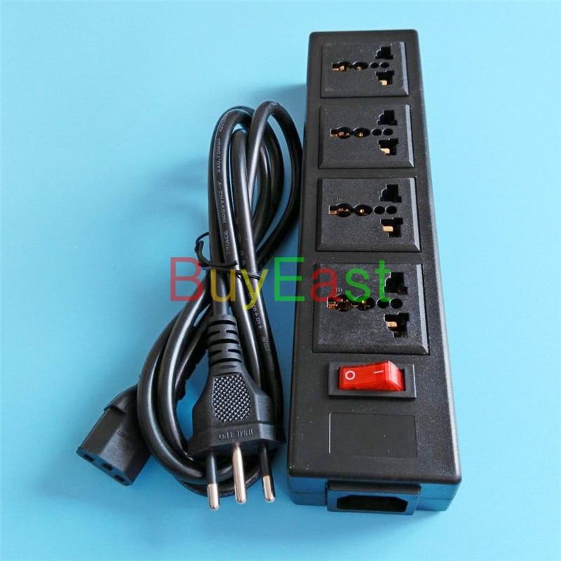 Free shipping Brazilian 3 Pin Travel Plug Adapter 4 Ways Universal Outlet Convert World Plug UK/US/AU/EU With LED Switch 10A eu us uk au plug outlet