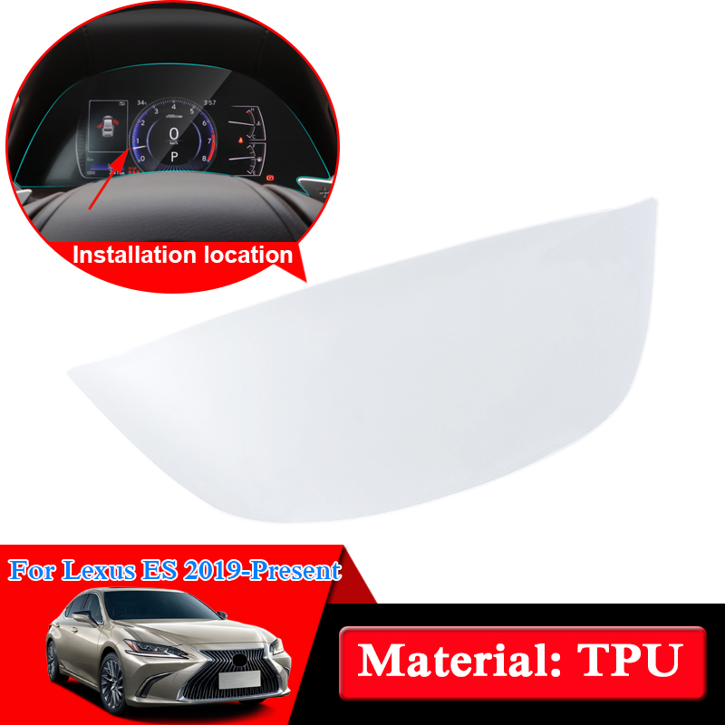 QCBXYYXH Car Styling TPU Car Dashboard Paint Protective Film Light Transmitting Auto Accessories For Lexus ES 200/260/300H 2019