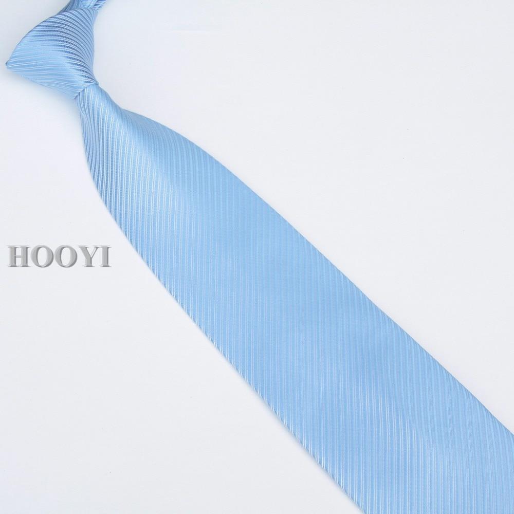 HOOYI 2019 férfi nyakkendő nyakkendő nyakkendő egyszínű üzleti - Ruházati kiegészítők - Fénykép 4