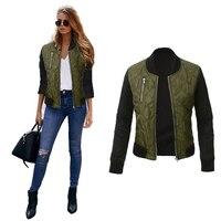 Fashion Basic Coat Female With Zipper Bomber Jacket Women Plain Big Size Female Jackets Autumn Fall