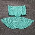 140*70 cm/410g nuevo estilo de chrildren kid de navidad cola de sirena manta super suave sofá cama para dormir manta de invierno mantener caliente del partido