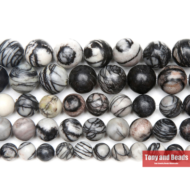 US $1 54 36% OFF|Free Shipping Natural Stone Spider Web Jaspers Round Beads  15